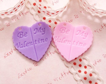 Be My Valentine Charm/Cabochon Set of 6pcs CAH37