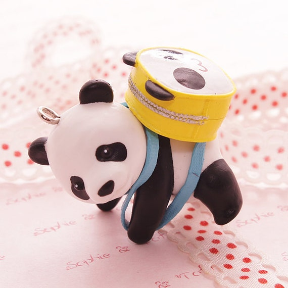 1pc Mr Panda Backpack Charm