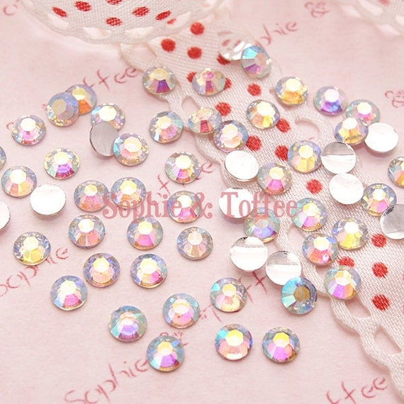 Clear AB Resin Faceted Rhinestones 4mm Set of 200pcs