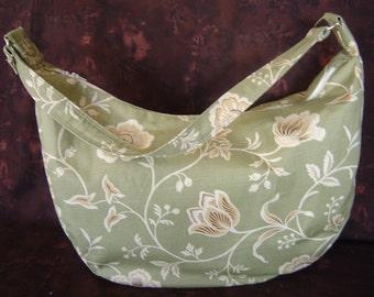Green and Cream Hobo Bag