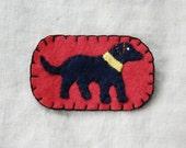 Black Dog Brooch
