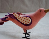 Wool Songbird Soft Sculpture