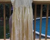 vintage sunshine yellow cotton spring summer DRESS