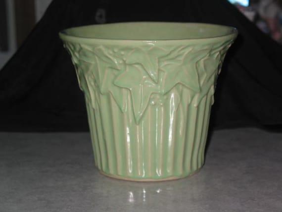 1930's McCoy Pottery USA Ivy Pot jardiniere flower planter