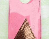 iPhone 4 / 5 HTC Pink / Bronze / Gold Snake leather case