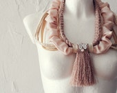 Morning Blush Neck piece collar warmer necklace