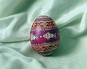 Ukranian Easter Egg with Fish Pattern