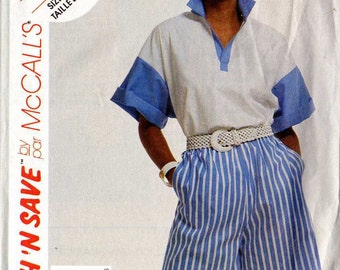 Vintage McCall's Top and Shorts Sewing Pattern