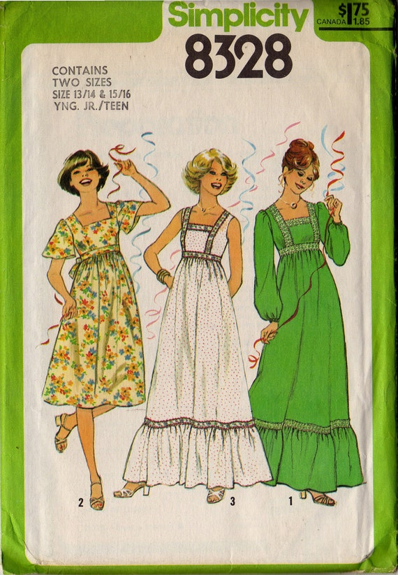 Vintage Young Teen' Dress Pattern by Simplicity