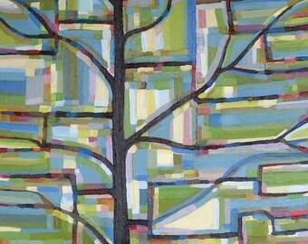 Tree View no. 41 Painting on Canvas (medium-large, 20 x 20) Original Fine Art by Kristi Taylor