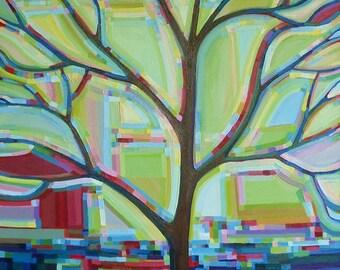 Tree View no. 45 (xLarge, 36 x 48) Original Painting Fine Art by Kristi Taylor