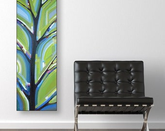 Tree View no. 48 (12x36) Original painting on canvas by Kristi Taylor