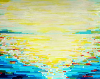 Water View no. 1 (40x30) original painting on canvas by Kristi Taylor