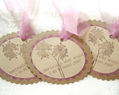 Tags...Friendship Inspired Kraft and Lilac Set of 4