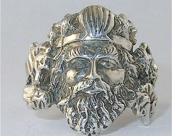 Sterling Silver Neptune Ring