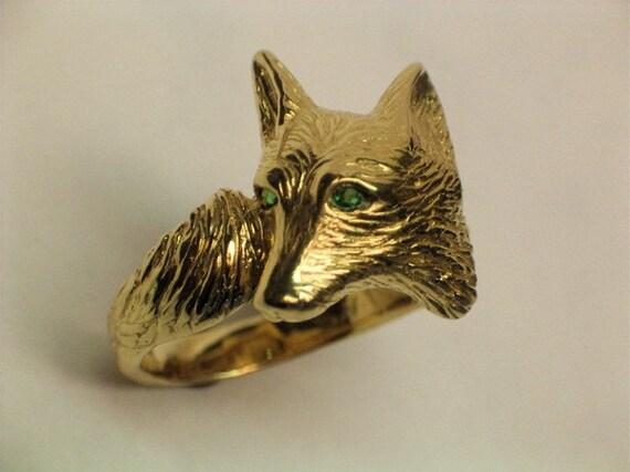 14kt  gold Fox ring Free Shipping US