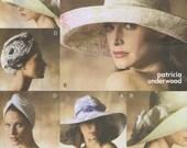 Sun Bonnet Floopy Hat, Turban, Scarf American Hustle Vogue 7600 Sewing Pattern size  s, m, l