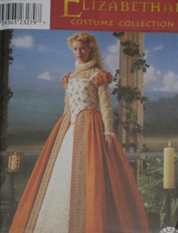 Bodice underskirt dress costume sewing pattern size 6 8 10 12