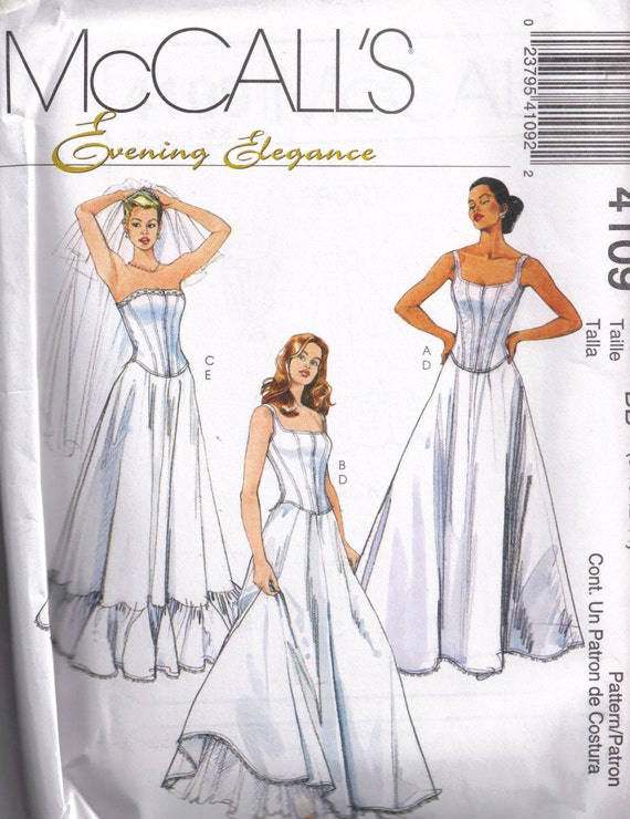 Wedding Corset Top and Petticoat  McCalls 4109 Sewing Pattern Size 8, 10, 12, 14