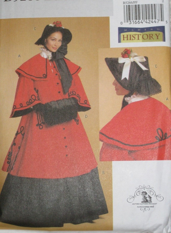 Victorian Cloak Muff And Bonnet Sewing Pattern By