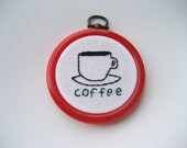 Itty-Bitty Coffee Embroidery
