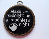 Black as Midnight Cross-Stitch - New