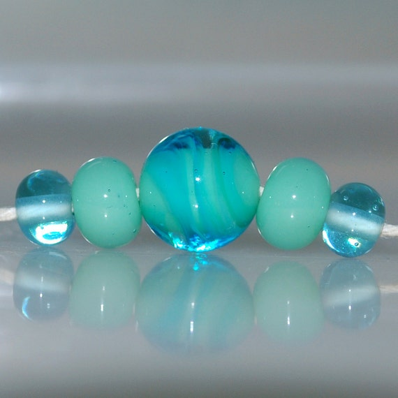 Seamist Lampwork Glass Bead Set