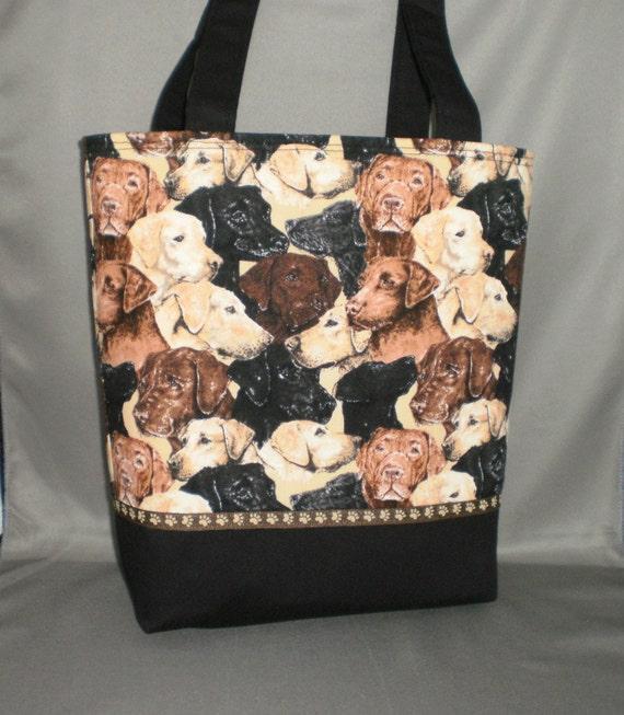 Medium Tote Bag Purse Dog Labrador Chocolate Lab