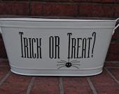 Trick or Treat Metal Bucket