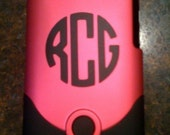 Personalized Monogram Decal for Cell Phone or iPod Touch