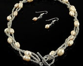 Pearl Drift - Handmade Pearl Necklace Set