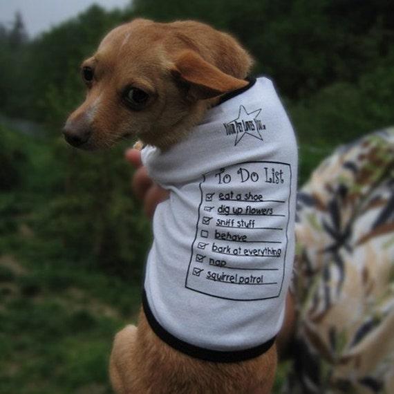 To Do List - Dog T Shirt - Size Medium