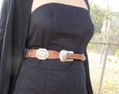 Brown Concho Belt