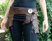 Brown Deerkskin Hip Belt