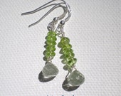 Peridot and Green Amethyst Earrings
