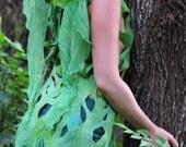 RESERVED for Sarah - Felt Fairy Wing Leaf Dress OOAK