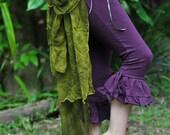 Felt Tree Of Life Bustle Corset Belt With Long Silk Train OOAK
