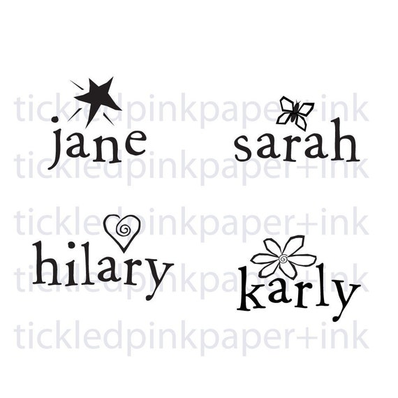 New baby name stamp or a great kiddo party favor or gift--148TS