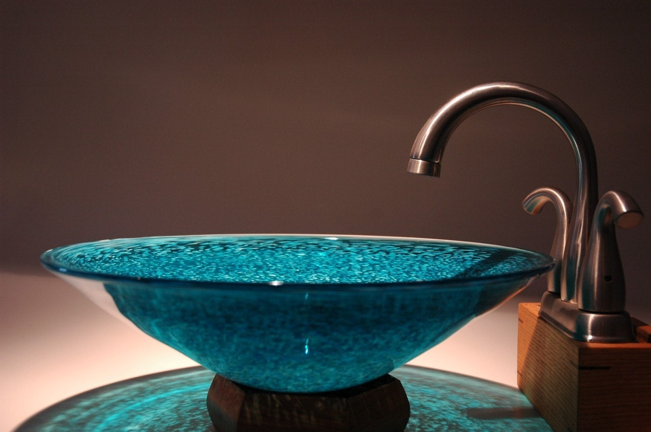 Turquoise Vessel Sink : Item Details Reviews (1) Shipping & Policies