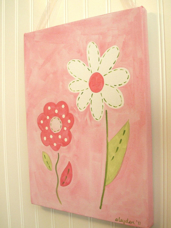 Baby Nursery Wall Art Girl Kid Room Decor Original Canvas