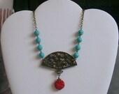 Oriental Cinnabar   necklace--ON SALE