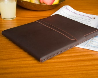 Leather iPad / Gaxaxy Tab / Nexus / Tablet Case - Chocolate - FREE SHIPPING