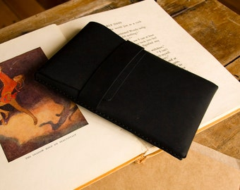 Leather Kindle Case / eReader Case- Black - FREE SHIPPING
