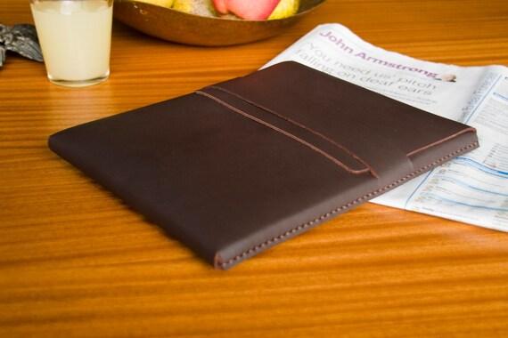 Leather iPad / Gaxaxy Tab / Nexus / Tablet Case - Chocolate - FREE SHIPPING