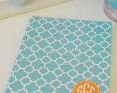 Personalized iPad Case by Pretty Smitten  - Circle Monogram design - you pick pattern, colors