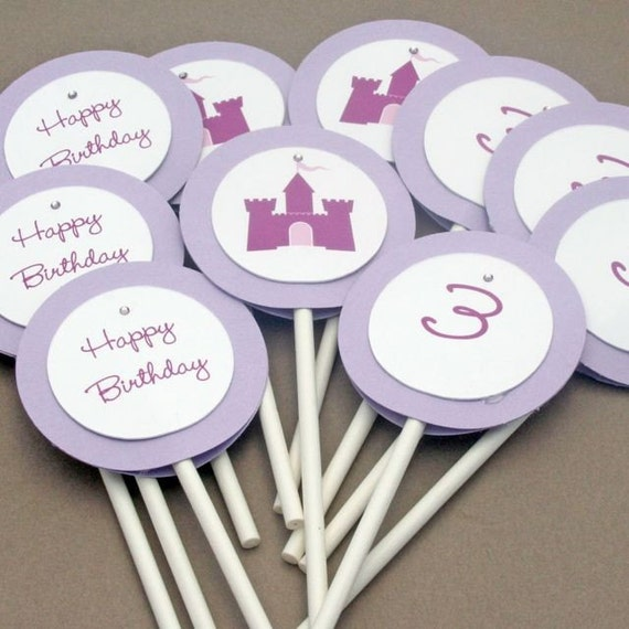 Pretty Smitten PARTY - Round Cupcake Toppers