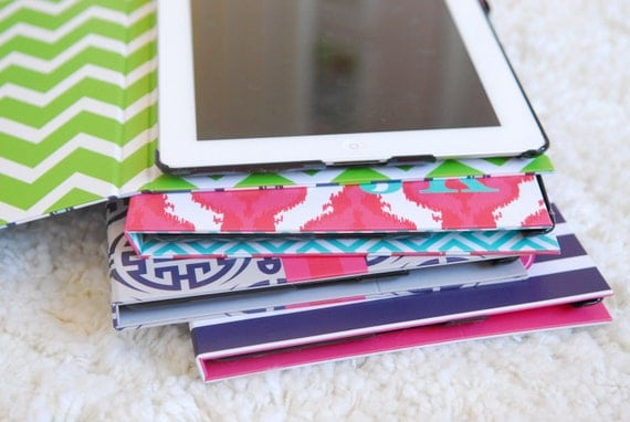 Monogrammed iPad Case  - COLOR BLOCK collection - you pick colors