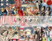 4th of JuLy - Scrapbooking - ATC - individual .png files - Digital Kit (dk 002)