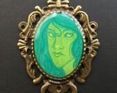 ACID LADIES Ena Bronze Necklace 38 x 50 mm