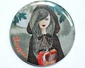 Odette and her red apples Pocket Mirror ///SALE///